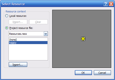 select resource dialog